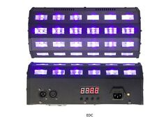 PROJECTEUR  lumière noire EFFET A LED UV 24 X 3W ULTRA VIOLET IBIZA DMX IBIZA