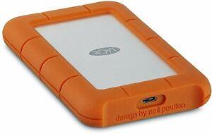 LaCie Rugged USB-C 1TB External Hard Drive Portable HDD USB 3.0 Drop Shock