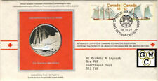 Canadian Postmasters Association Silver Medallic First Day Cover-Sailing Vessels