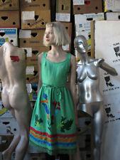 Clarissa Modelle Trachtenkleid Leinenkleid Kleid grün True VINTAGE linen dress