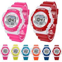 Waterproof Kids Child Boy Girl Digital Wrist Watch LED Light Alarm Sport Gift