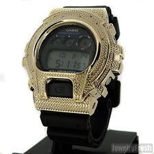 Gold 0.12 Carat Genuine Diamond G-Shock Watch Casio DW6900