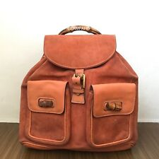Pre Owned Authentic Vintage GUCCI Bamboo Backpack