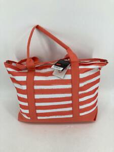 Logo Brands Stripes Beach Tote Bag