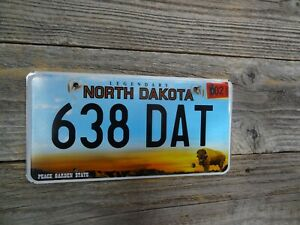 North Dakota new font license plate All Original Peace Garden State Buffalo!!!!!