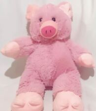"BDay Bears Pink Pig 16"" Soft Plush Zipper Pouch"
