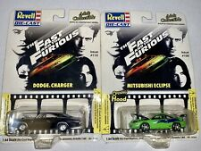 Revell Fast and the Furious Mitsubishi Eclipse #100 & Dodge Charger #115