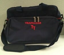 Trafalgar Shoulder Bag Overnight Carry On Navy Blue With Red Embroidery, NWOT