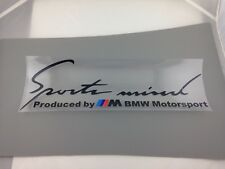 SPORTS MIND PRODUCED BY M BMW MOTORSPORT EYEBROW HOOD BMW STICKERS 20cm BLACK