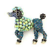 Animal Brooch Pin Jewelry Gift Betsey Johnson Crystal Rhinestone Poodle Dog