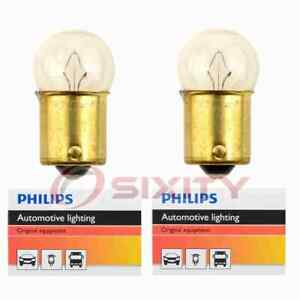2 pc Philips License Plate Light Bulbs for Nissan 200SX 720 B210 F10 Micra rs
