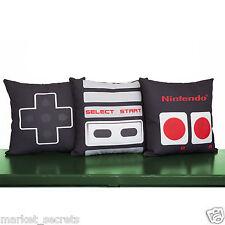 Nintendo NES Controller Throw Pillow Cases Set, Geeky Video Game Bedding Decor
