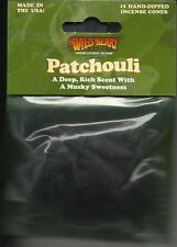 PATCHOULI WILD BERRY INCENSE CONES 15 CONE FACTORY PACKED FOR FRESHNESS USA