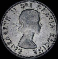 1958 AU Canada Silver 50 Cents (Fifty, Half) - KM# 53 - Free Shipping - JG