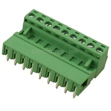10pcs 2EDG 9Pin Plug-in Screw Terminal Block Connector 5.08mm Pitch Right Angle