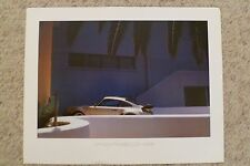 1984 Porsche 911 Turbo Coupe Showroom Advertising Poster RARE!! Awesome L@@K
