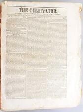 1838 Cultivator Newspaper Pre Civil War Albany NY Farming Americana Agriculture