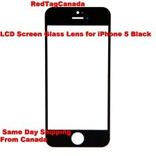 LCD Front Screen Glass Lens Repair Parts Replacement for iPhone 5 5g - BLACK -CA