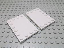 Lego 2 Fliesen 4x6 mit Randnoppen weiß 6180 Set 3061 10200 5974 7674