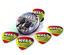 Barcelona City X 5 Kiss Guitar Picks Collection In Tin