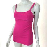 Lululemon Solid Pink Tank Top Stretch Built-in Bra Yoga Gym Womens 6