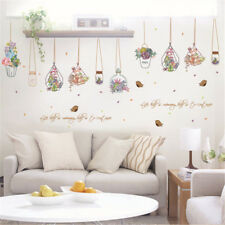 Beautiful Flower Plants Chlorophytum Removeable Wall Sticker Decor Sticker CH