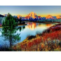 5d diy diamond painting cross stitch gift pattern mosaic picture mountain RIVER