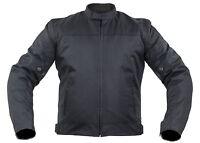 Textil Motorrad Jacke mit Protektoren Biker Custom Winddicht Schwarz