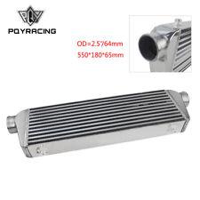 "2.5"" Inlets Universal Aluminum Front Mount Turbo Intercooler Kit 550*180*65mm"