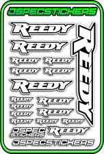 RC STICKERS REEDY 1/10 1/8 1/12 DECAL MOTOR BATTERY ESC CAR JSPEC WHITE BLACK