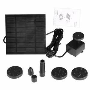 200L/H Solar Submersible Water Pump Water Feature Pump Garden Pool Pond Fountain