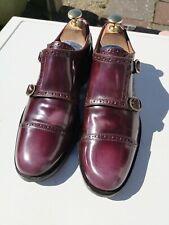 Mens JOHN FLUEVOG 100% Leather, Burnished Oxblood Double Monk UK 7.5 (41.5).