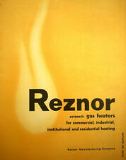 REZNOR Commercial Gas Duct Furnace Heaters Air Cell Insulation ASBESTOS ? 1955