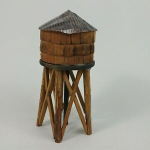 HO Scale Rustic Wooden Water Tower Weathered & Detailed Model Railroad