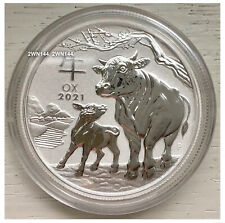 2021 Year Of The Ox 1/2oz Silver Coin 9999 Silver - Perth Mint Lunar Series