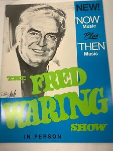 "Vintage""The Fred Waring Show""Souvenir Program 1971"