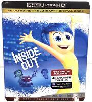 Inside Out 4K Ultra HD Blu Ray New Sealed Disney Pixar Animation Digital Code