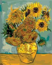 Usa - Diy Paint by Number Kit Acrylic Painting Home Decor - Sunflowers Van Gogh