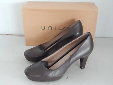 Unisa Pumps High Heels Plateau Echtleder Braun Shoes Gr. 39 mit OVP
