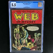 Web of Mystery #27 (Ace 1954) 💥 CGC 5.5 💥 Pre-Code Horror Noose Cover! PCH
