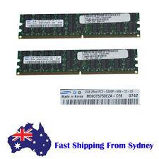 Samsung 4GB(2x2G) PC2-5300P 240 Pin DDR2-667 ECC Server Ram Memory