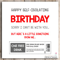 Funny Isolation Birthday Card Mum Dad Brother Uncle Sister Niece Daughter Friend