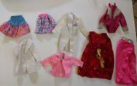 8 Vintage 80s Barbie Doll Clothes Lot Black and Purple Label