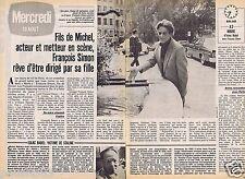 Coupure de presse Clipping 1980 François Simon le fils de Michel (2 pages)
