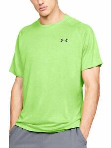 Under Armour Streaker 2.0 Short Sleeve Mens Running Gym Top - Green Size L