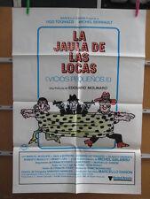 1882      LA JAULA DE LAS LOCAS. UGO TOGNAZZI, MICHEL SERRAULT