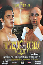 Original Vintage Julio Cesar Chavez Jr. vs. Luciano Cuello Boxing Fight Poster