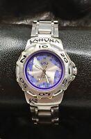 KAHUNA 10 ATM Retro Silver/Purple Women's/Girls Bracelet Watch New Battery!
