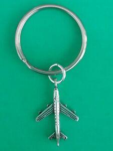 Tibetan Silver AEROPLANE Keyring/Bag Charm. PLANE/STEWARD/STEWARDESS/HOLIDAY.