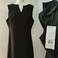 New Dorothy Perkins Women Shift Dress Black Sleeveless V neck Work Office UK 16